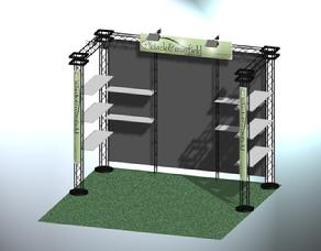 10' Zero truss display