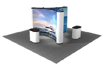 Island Graphic Pop Up Display